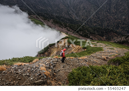 Mountainous landscape (bad weather) 55403247