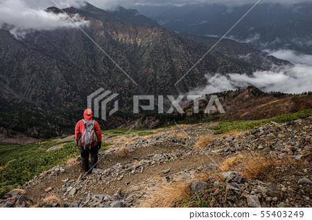 Mountainous landscape (bad weather) 55403249