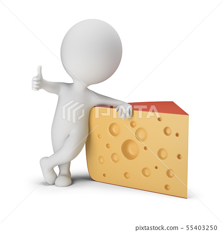 3d small people - cheese 55403250