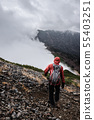 Mountainous landscape (bad weather) 55403251