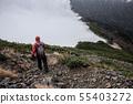 Mountainous landscape (bad weather) 55403272
