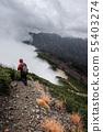 Mountainous landscape (bad weather) 55403274