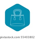 Shop bag icon, outline style 55403802