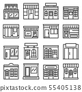 Local business icons set, outline style 55405138