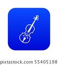 Cello icon digital blue 55405198
