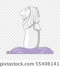 Merlion icon, cartoon style 55406141
