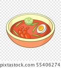 Asian soup icon, cartoon style 55406274