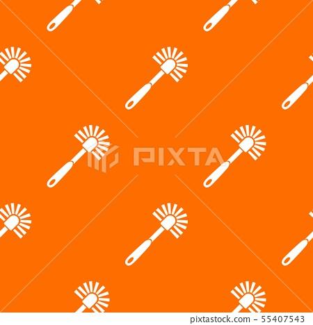 Toilet brush pattern vector orange 55407543