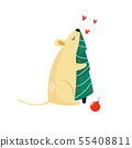 Cute funny mouse for Chinese New Year 55408811