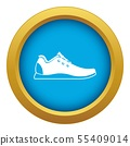 Athletic shoe icon blue vector isolated 55409014