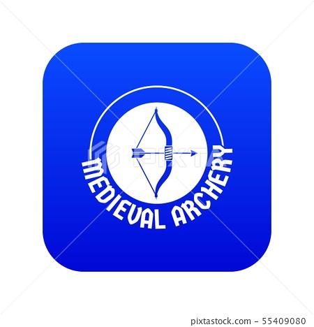Bow arrow icon blue vector 55409080