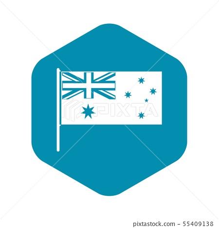 Australian flag icon, simple style 55409138