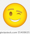 Eyewink suspicious emoticon icon, cartoon style 55409635