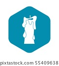 Thick candle icon, simple style 55409638