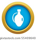 Clay jug icon blue vector isolated 55409640