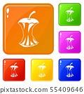 Apple core icons set vector color 55409646