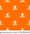 Social protest shield pattern vector orange 55409649