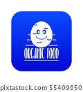 Potato icon blue vector 55409650
