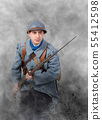 French soldier 1914 1918 attack, November 11th 55412598