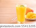 น้ำผลไม้มะม่วงฤดูร้อนเครื่องดื่มมะม่วงสดฉ่ำ ju ンゴージュースマママンンーー 55413205