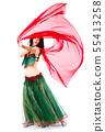 arabian, dancer, woman 55413258