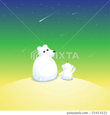 Vector illustration with two polar bears  55413523