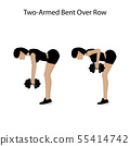 Two armed bent over row exercise 55414742