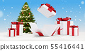 gifts for Christmas with opened christmas present 55416441