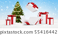 gifts for Christmas with opened christmas present 55416442