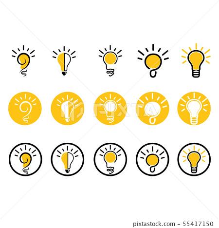 light bulb symbol vector design illustrations 55417150