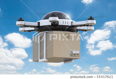 delivery drone flying 55417621