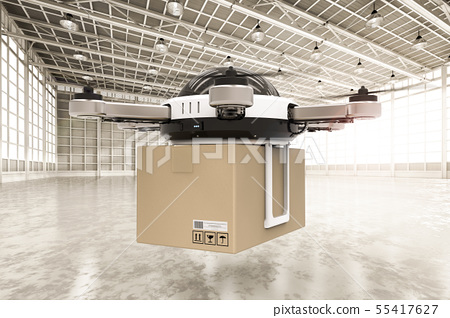 delivery drone in warehouse 55417627