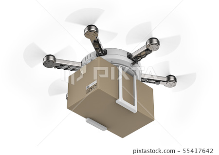 delivery drone flying 55417642