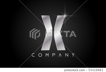 alphabet letter X logo company icon design 55418961