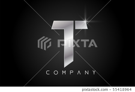 alphabet letter T logo company icon design 55418964