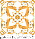 Golden baroque rich luxury pattern 55420571