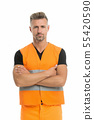 High visibility reflective safety vest. Safety is 55420590