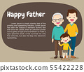 portrait family with Happy grandfather son and 55422228