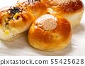 麵包和三文魚麵包 55425628