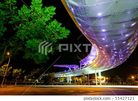 臺灣屏東市萬年溪景觀橋Asia Taiwan Pingtung Landscape Bridge 55427121