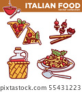 Italian food vector collection of exquisite 55431223