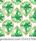 Seamless green gemstones pattern 55431708