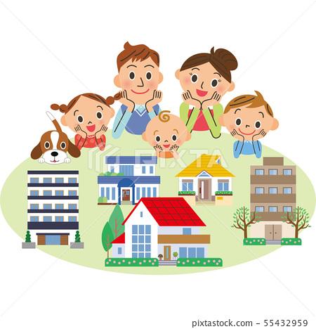 부동산을 찾는 가족 55432959
