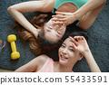 女士运动服鸟瞰图 55433591