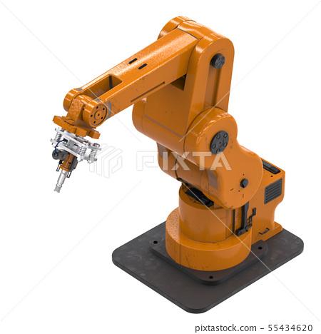 welding robotic arm isolated on white 55434620