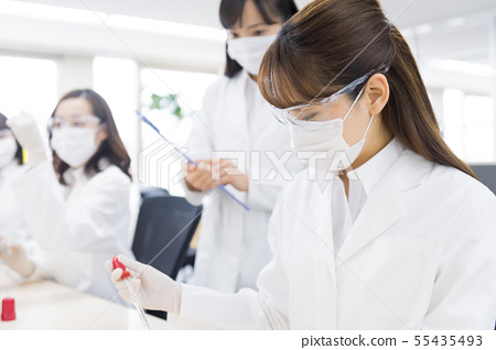 사업가, 연구원, 실험실, 과학, 실험, 시험관 55435493