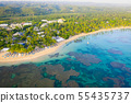Top view of tropical beach at sunny day 55435737