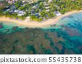 Aerial view of Bahia beach during the day 55435738