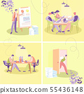 Businesspeople Office Work Flat Vector Concept 55436148
