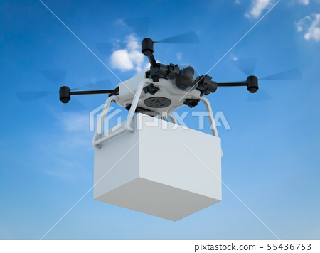 delivery drone with box 55436753